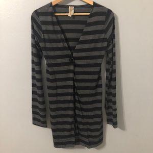 Miuse Striped Long Cardigan Size Medium